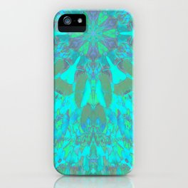 Mandala Gingko Turquoise iPhone Case
