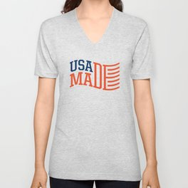 USA MADE Unisex V-Neck