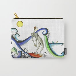 Nose riding Surfer  Carry-All Pouch