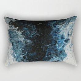 Blue Tornado, abstract acrylic fluid painting Rectangular Pillow