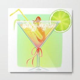 Funny Cocktail Metal Print