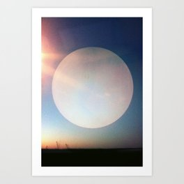 Artificial Moon Art Print