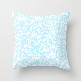Small Spots - White and Light Blue Throw Pillow