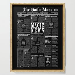 The Daily Mage Fantasy Newspaper II Serving Tray