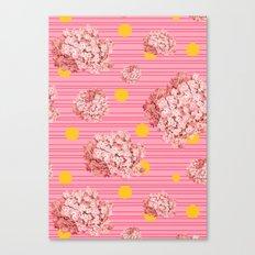 hydrangea spots and stripes Canvas Print