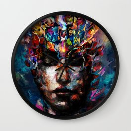fractured but whole Wall Clock