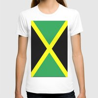 jamaica T-shirts featuring Jamaica Flag by Barrier Style & Design