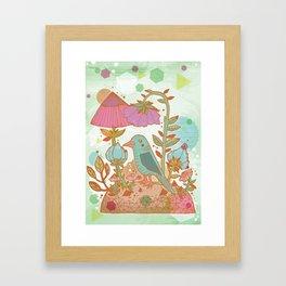 The Blue Bird Framed Art Print