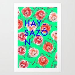 Hay Sazón-mint Art Print
