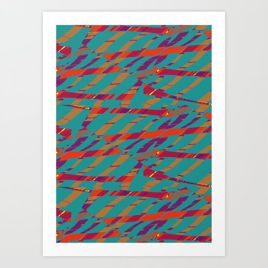 TORN STRIPES Art Print