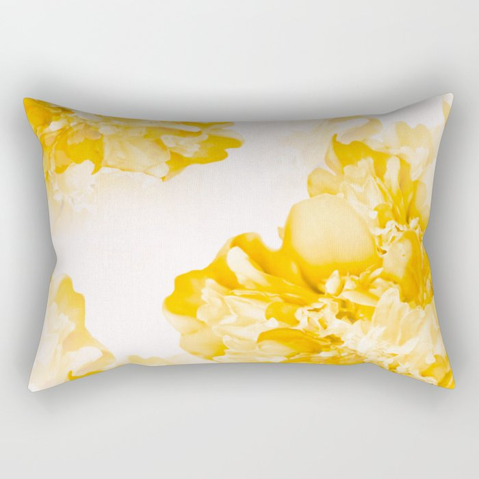 Beautiful Peony Flowers White Background #decor #society6 #buyart Rectangular Pillow