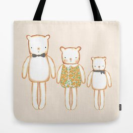3 Bears Tote Bag