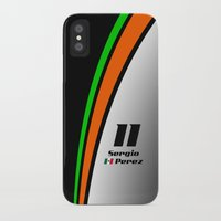f1 iPhone & iPod Cases featuring F1 2015 - #11 Perez by MS80 Design
