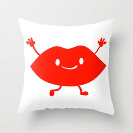 Happy Kiss (Valentines Edition) Throw Pillow