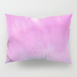 Modern neon pink lilac white abstract watercolor paint Pillow Sham