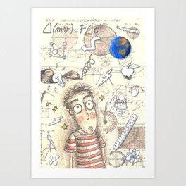 SCIENCE WORLD Art Print