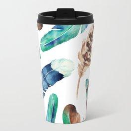Blue Feather 1 Travel Mug