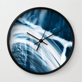 Blue Banshee Falls Wall Clock