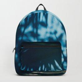 Blue Palm Tree Window Backpack