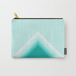 Color block shades of teal Carry-All Pouch