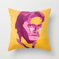 han solo Throw Pillows featuring Han Solo by Jude Beavis
