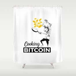 Cooking Bitcoin Shower Curtain