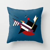 kandinsky Throw Pillows featuring STARSHIP by THE USUAL DESIGNERS