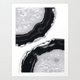 Gray Black Agate #2 #gem #decor #art #society6 Kunstdrucke
