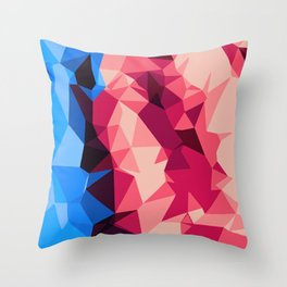 orange blue and pink modern abstract background Throw Pillow