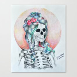 Dead but trying.  Canvas Print