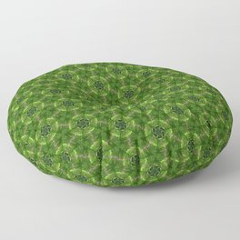 Green Molecules Floor Pillow