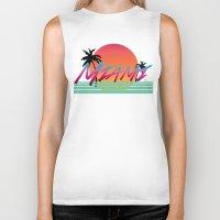 miami Biker Tanks featuring Miami by TH Graphic Designs
