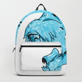 Bingley Terrier Head Drawing Backpack