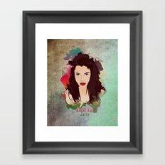 Aneglia Jolie Framed Art Print