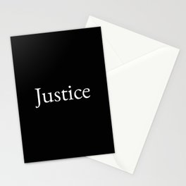Justice 1- black and white Stationery Cards