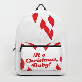 Candy Cane - It's Christmas, Baby! #xmas #christmas #minimal #love #design Backpack