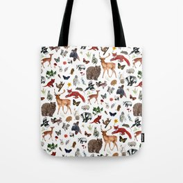 Wild Woodland Animals Tote Bag