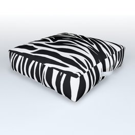 Black And White Zebra Stripes Outdoor Floor Cushion