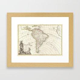 Vintage Map of South America (1762) Framed Art Print