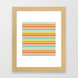 Over Striped Framed Art Print