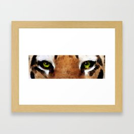 Tiger Art - Hungry Eyes Framed Art Print