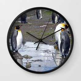 King Penguin Reflection Wall Clock