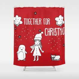Together for Christmas Shower Curtain