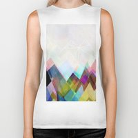 mountain Biker Tanks featuring Graphic 104 by Mareike Böhmer