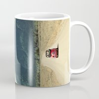 never stop exploring Mugs featuring NEVER STOP EXPLORING III by Leslee Mitchell
