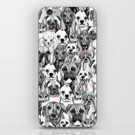 just dogs coral mint iPhone Skin
