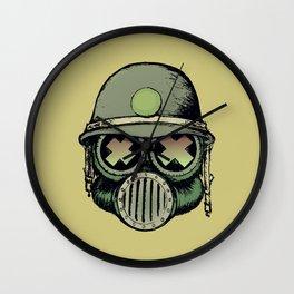 War Skull Wall Clock