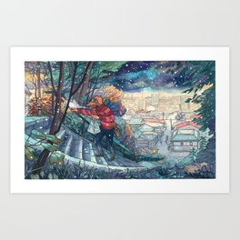 Cold In Yokohama 06 Art Print