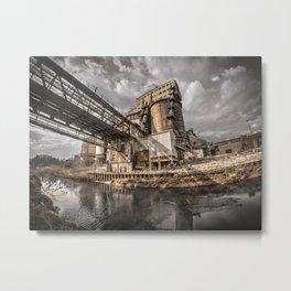 Old industrial works plant Metal Print