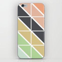Retro Geometric Triangle Pattern iPhone Skin